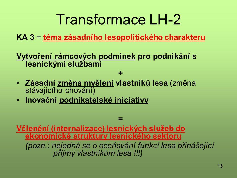 Transformace LH-2 KA 3 = téma zásadního lesopolitického charakteru