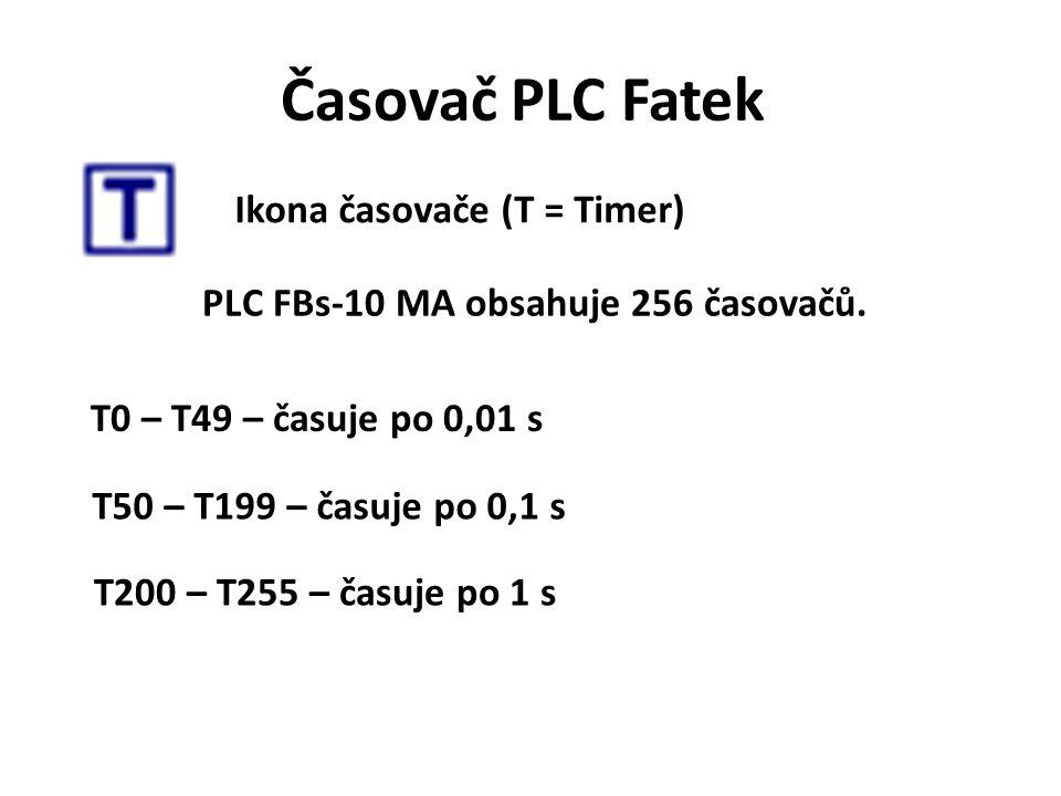 PLC FBs-10 MA obsahuje 256 časovačů.