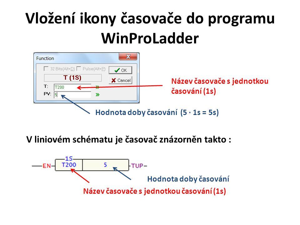 Vložení ikony časovače do programu WinProLadder