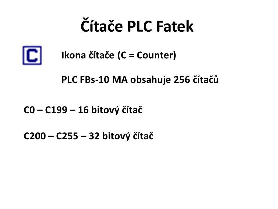 PLC FBs-10 MA obsahuje 256 čítačů