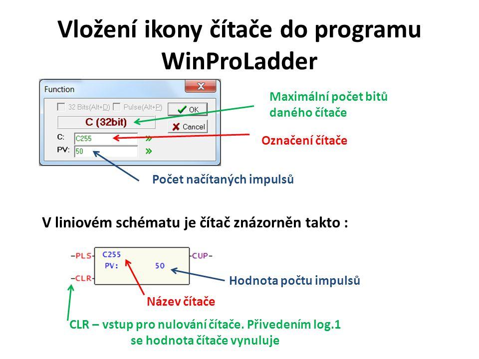 Vložení ikony čítače do programu WinProLadder