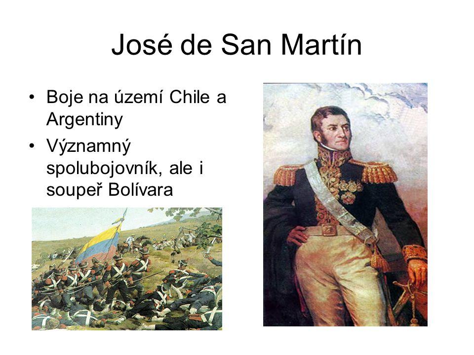 José de San Martín Boje na území Chile a Argentiny
