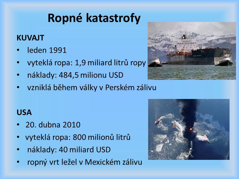 Ropné katastrofy KUVAJT leden 1991