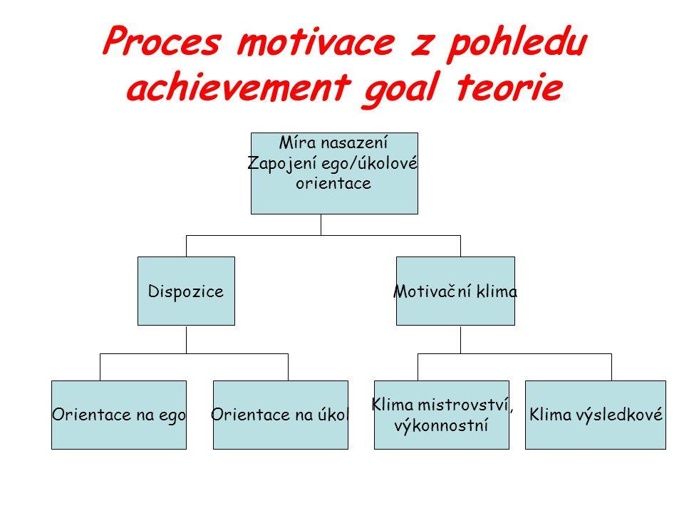 Proces motivace z pohledu achievement goal teorie