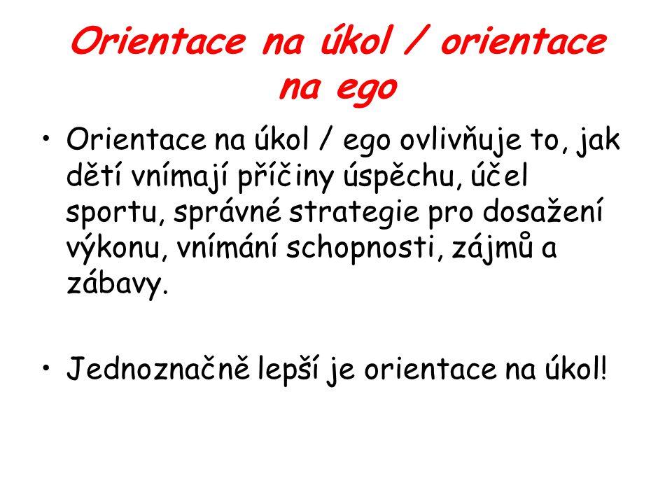 Orientace na úkol / orientace na ego