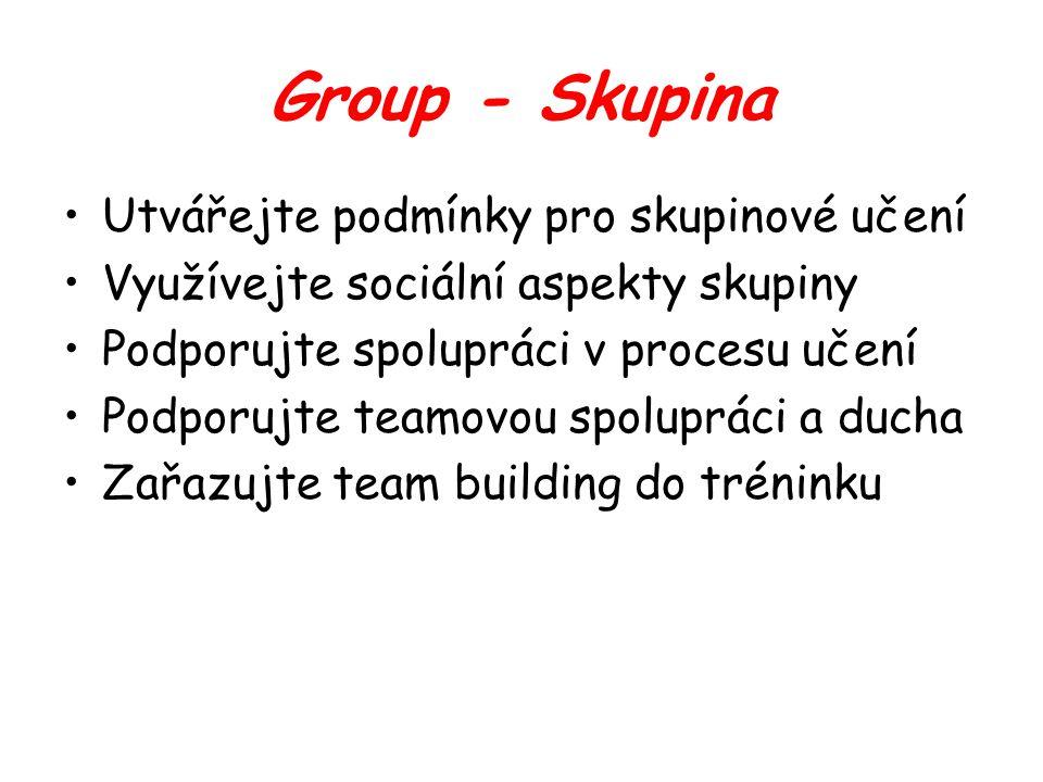 Group - Skupina Utvářejte podmínky pro skupinové učení