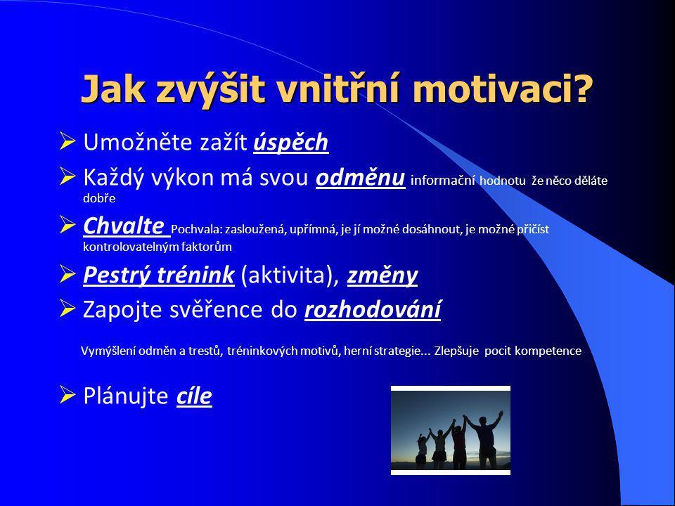Jak zvýšit vnitřní motivaci