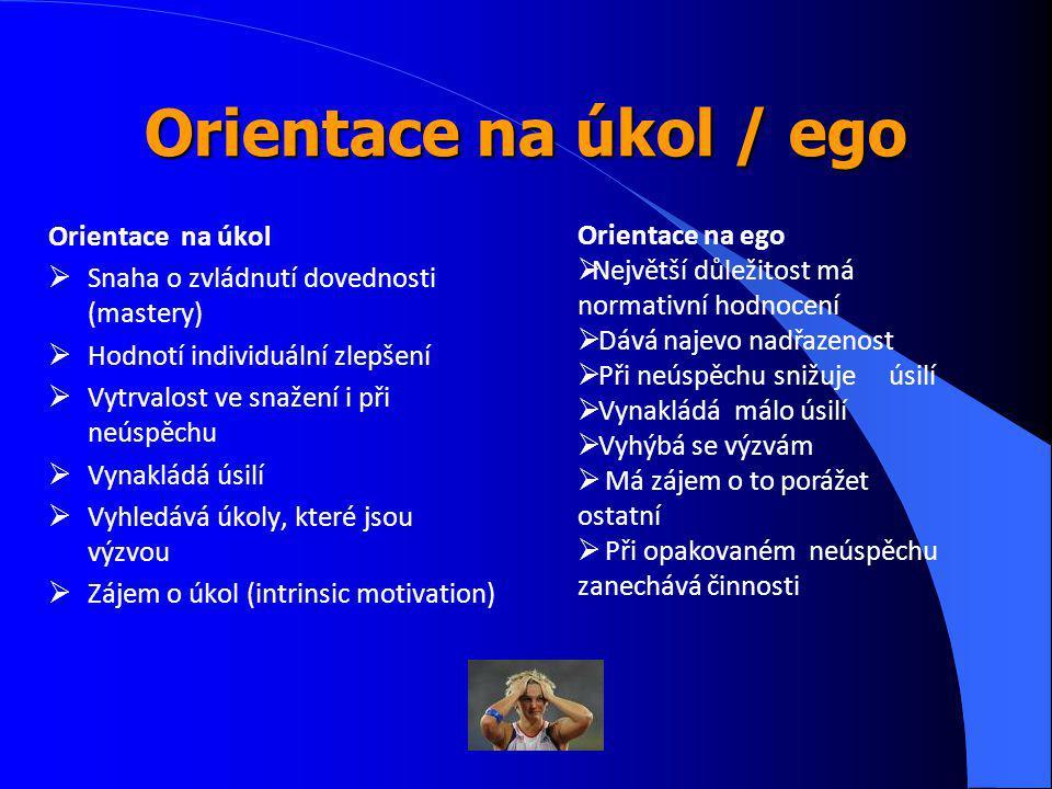 Orientace na úkol / ego Orientace na úkol