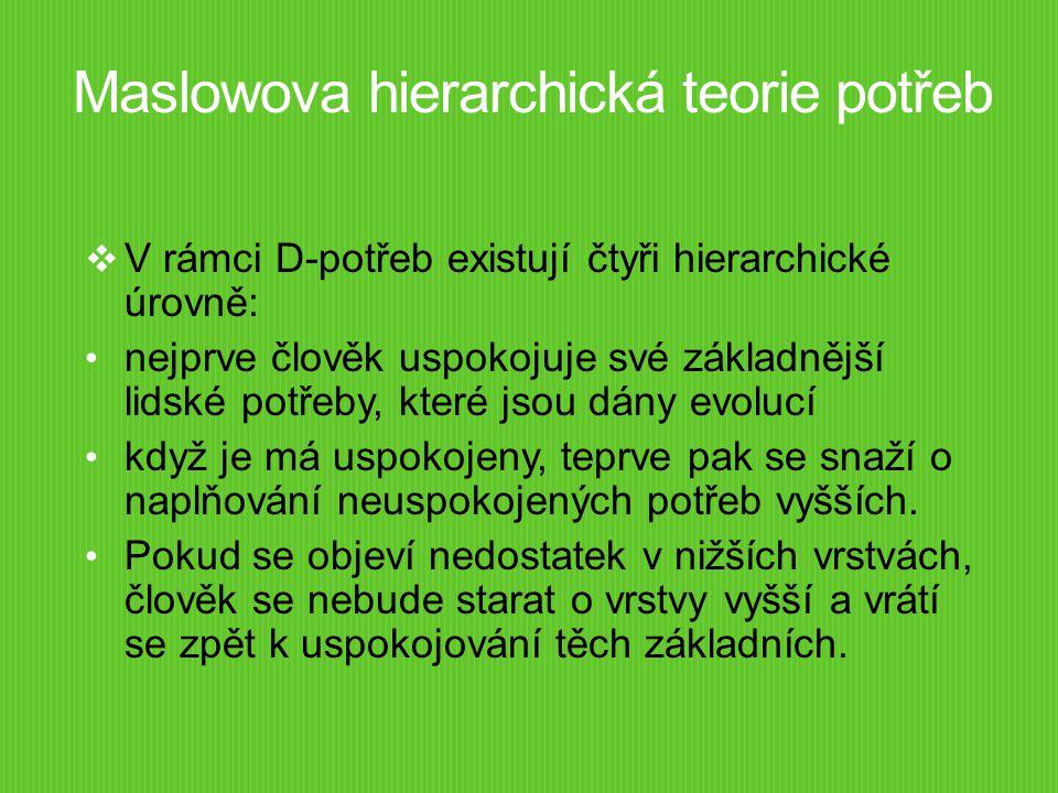 Maslowova hierarchická teorie potřeb