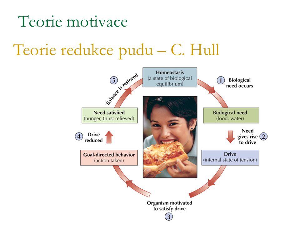 Teorie motivace Teorie redukce pudu – C. Hull