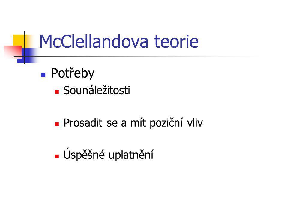 McClellandova teorie Potřeby Sounáležitosti