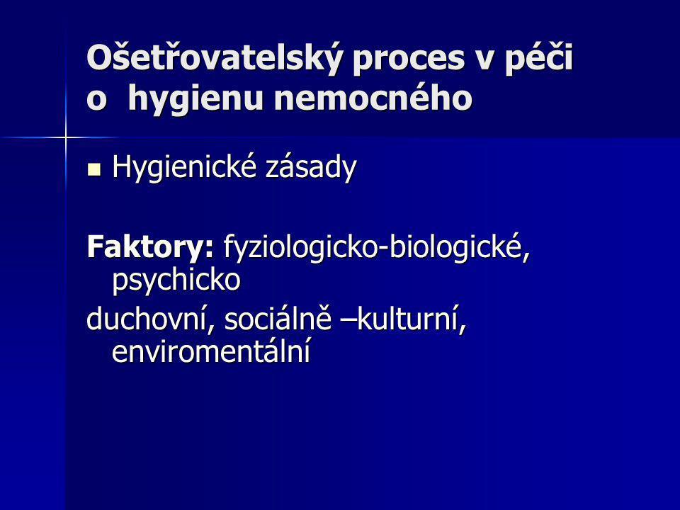 Ošetřovatelský proces v péči o hygienu nemocného