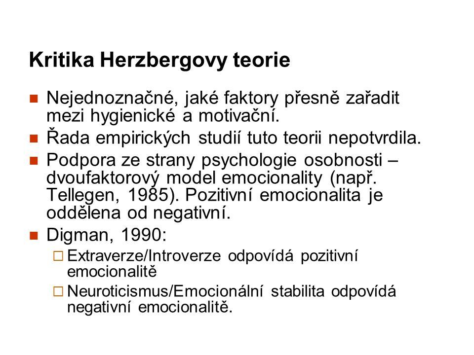 Kritika Herzbergovy teorie