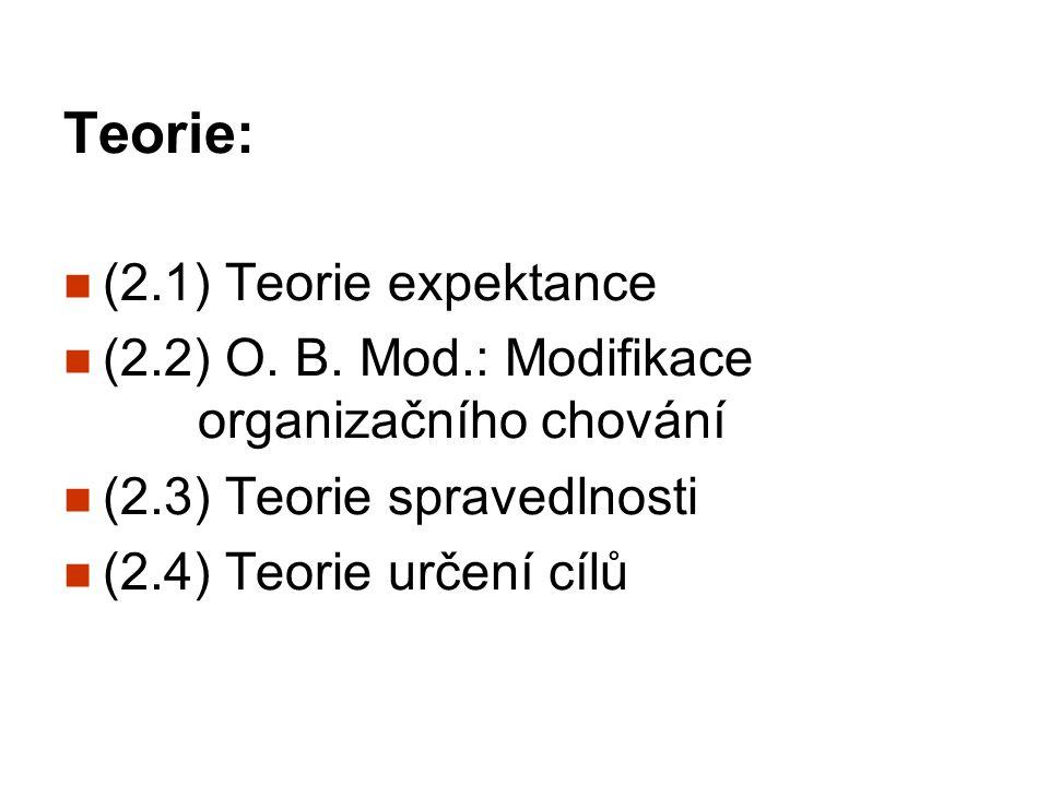 Teorie: (2.1) Teorie expektance