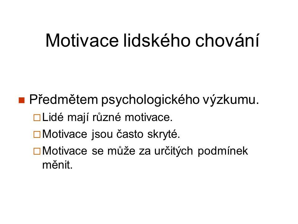 Motivace lidského chování