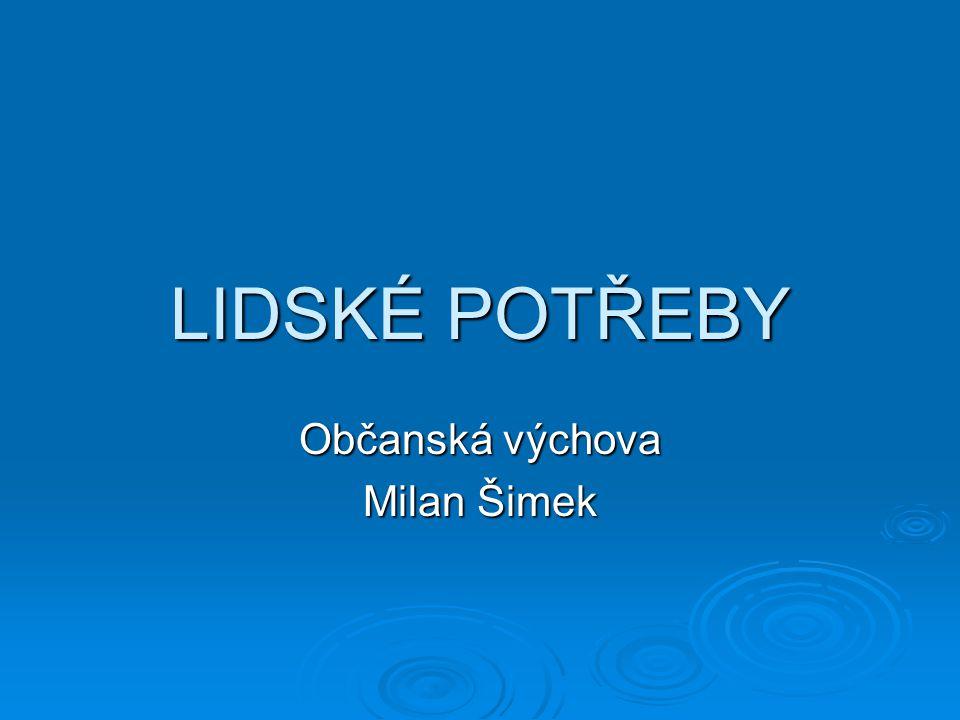 Občanská výchova Milan Šimek