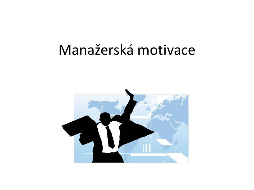 Manažerská motivace