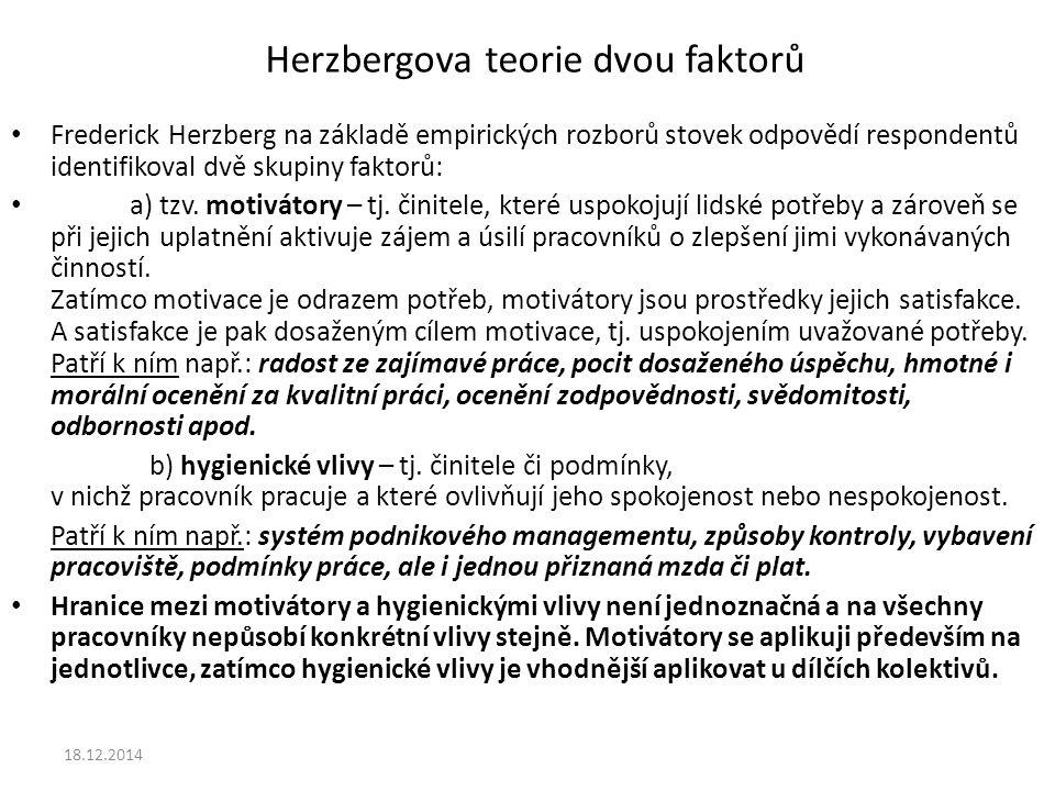 Herzbergova teorie dvou faktorů