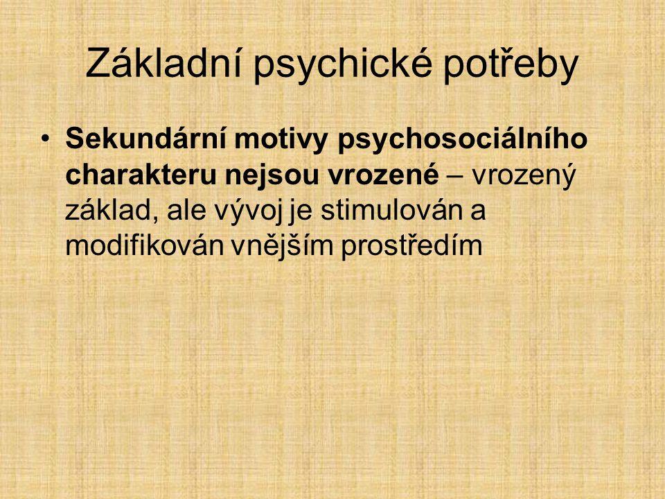 Základní psychické potřeby
