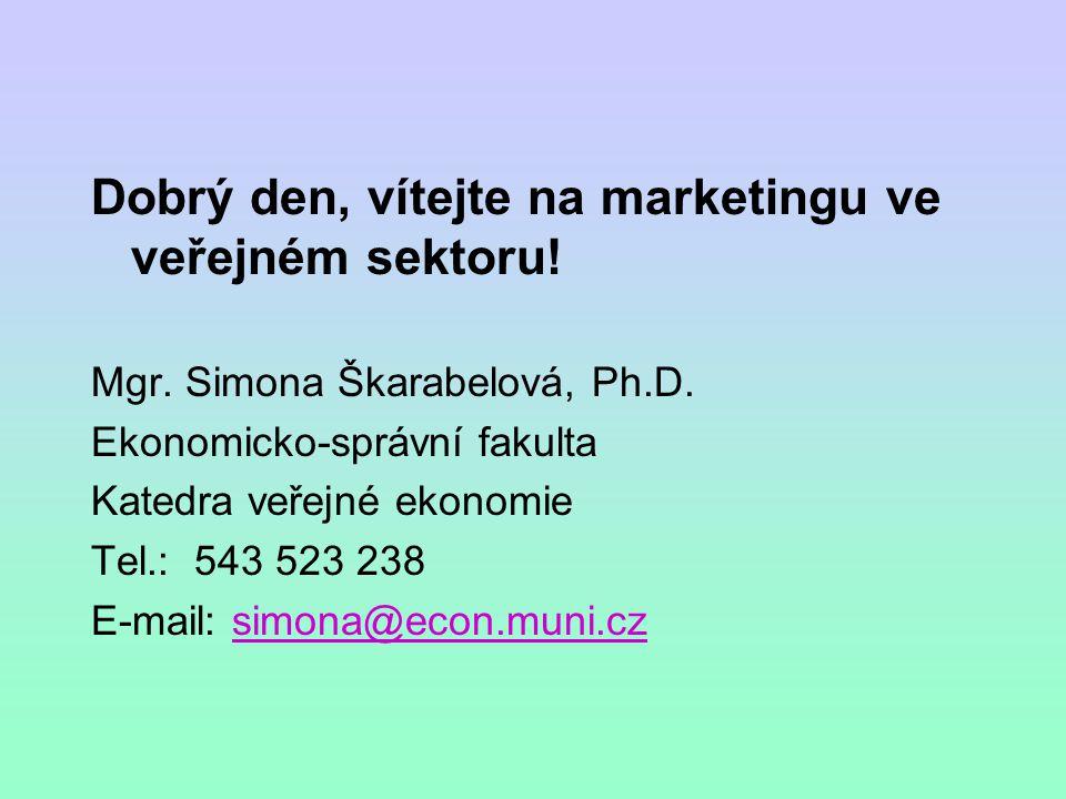 Dobrý den, vítejte na marketingu ve veřejném sektoru!