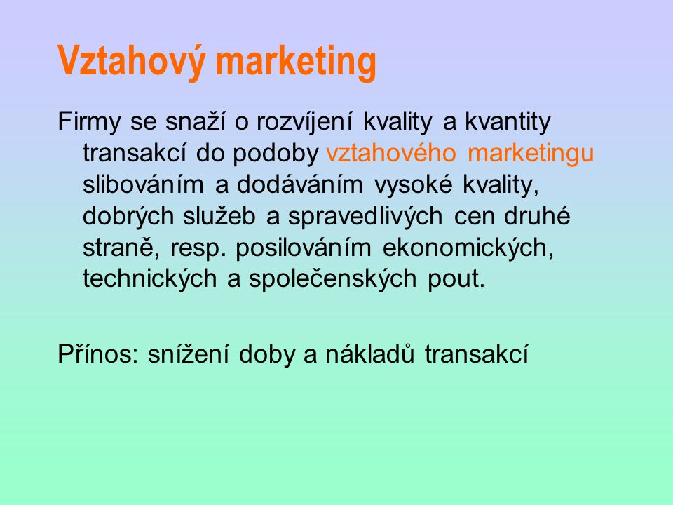 Vztahový marketing