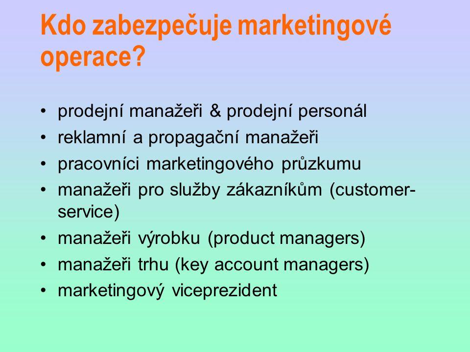 Kdo zabezpečuje marketingové operace