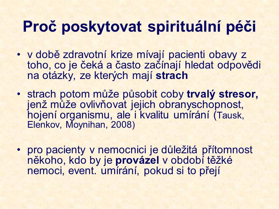 Proč poskytovat spirituální péči