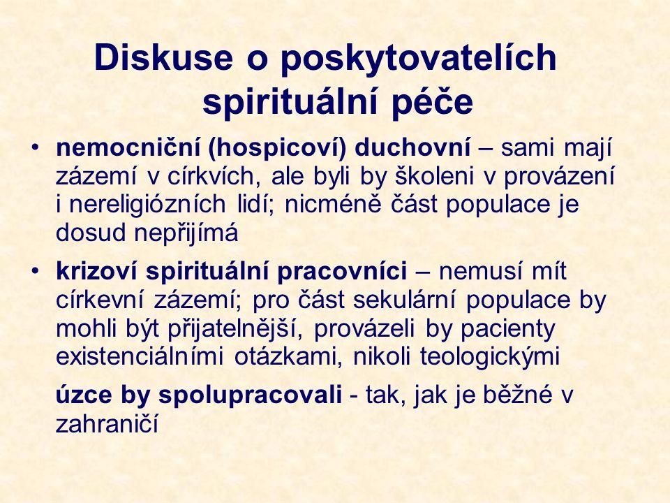 Diskuse o poskytovatelích spirituální péče