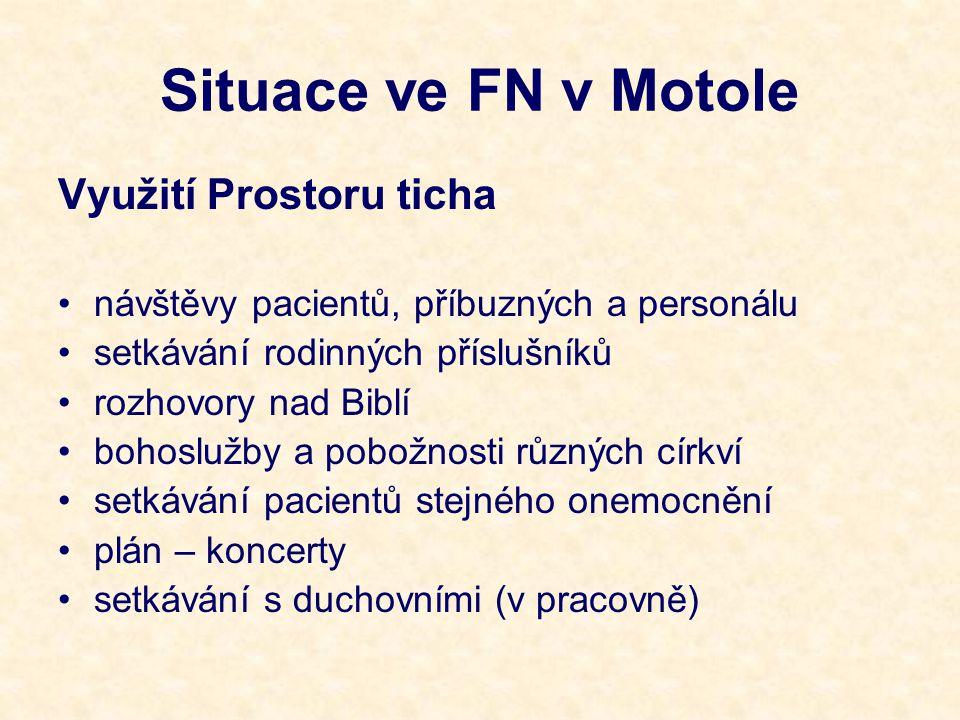 Situace ve FN v Motole Využití Prostoru ticha