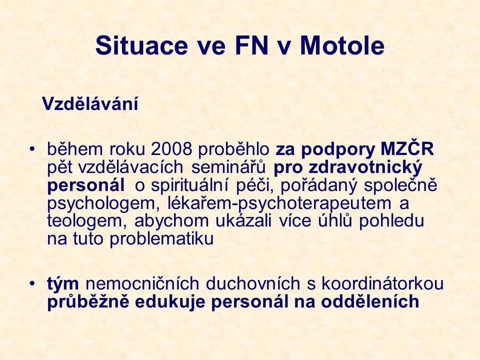 Situace ve FN v Motole Vzdělávání.