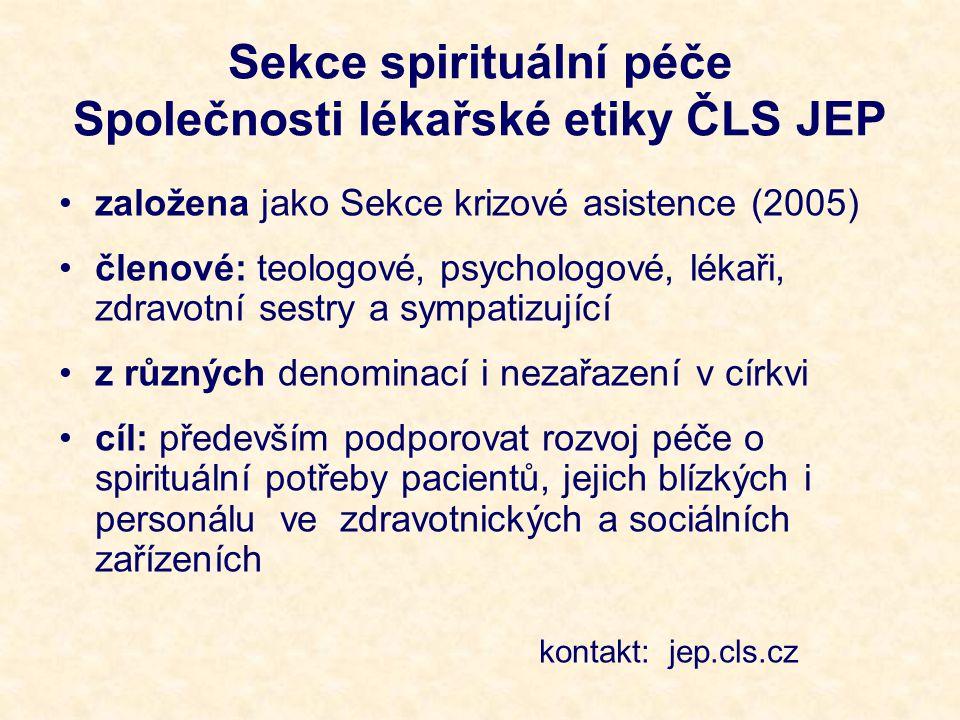 Sekce spirituální péče Společnosti lékařské etiky ČLS JEP