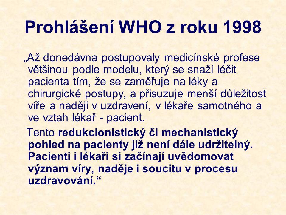 Prohlášení WHO z roku 1998