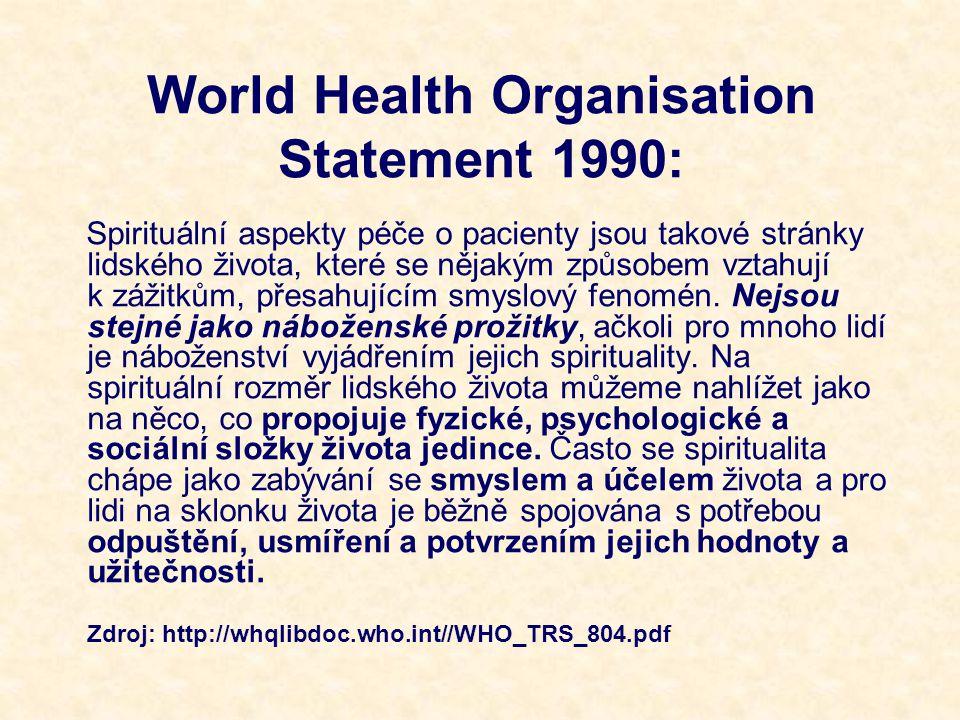 World Health Organisation Statement 1990: