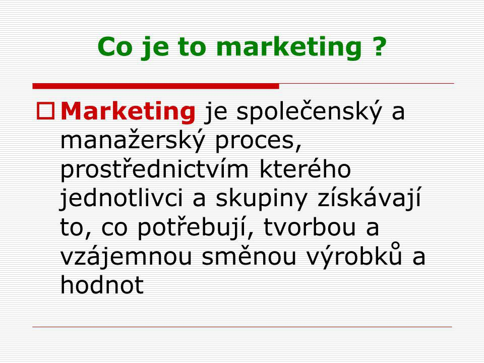 Co je to marketing