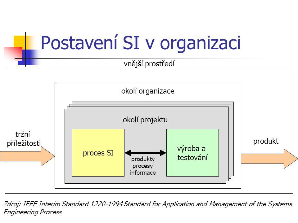 Postavení SI v organizaci
