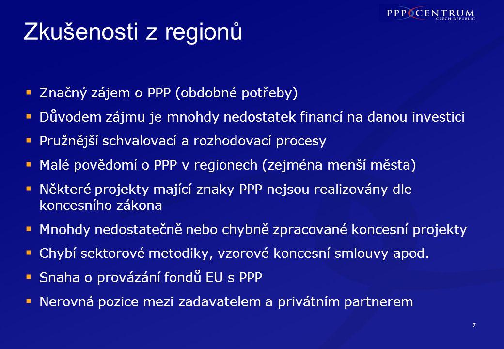 Doporučení U projektů na úrovni státu zvažovat i alternativu PPP