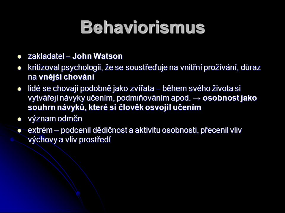 Behaviorismus zakladatel – John Watson