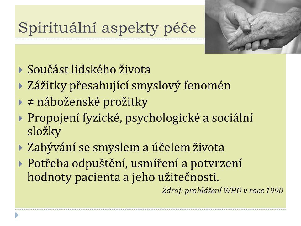 Spirituální aspekty péče