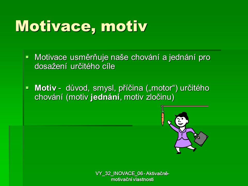 VY_32_INOVACE_06 - Aktivačně-motivační vlastnosti
