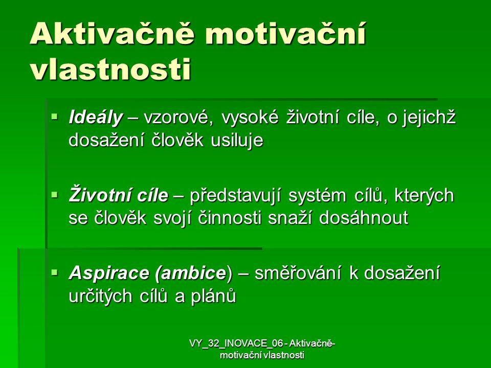Aktivačně motivační vlastnosti