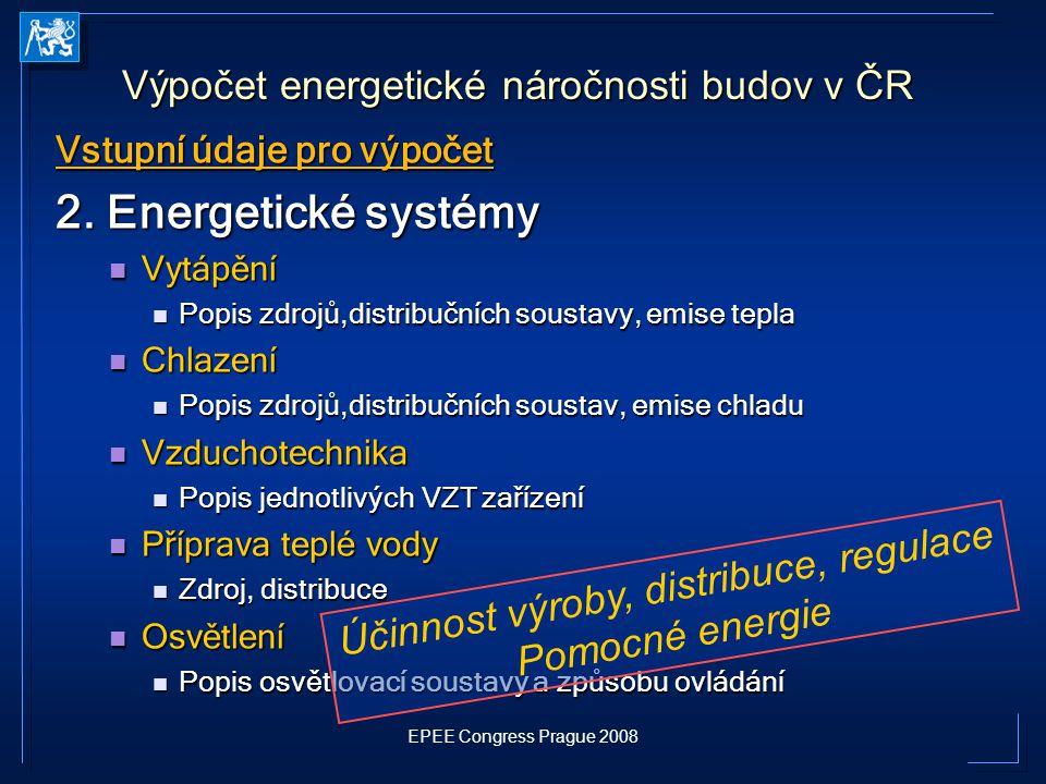 2. Energetické systémy Výpočet energetické náročnosti budov v ČR
