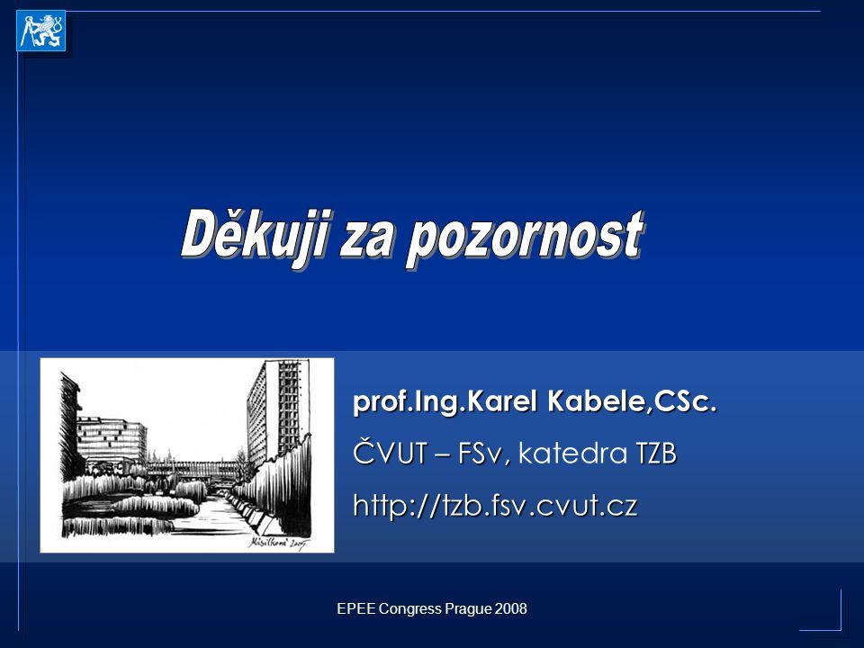 Děkuji za pozornost prof.Ing.Karel Kabele,CSc. ČVUT – FSv, katedra TZB