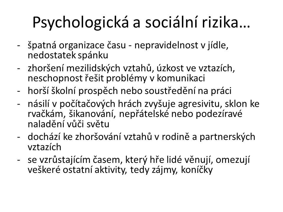 Psychologická a sociální rizika…