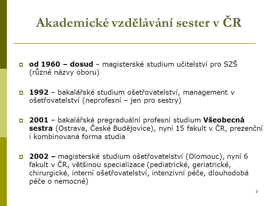 Akademické vzdělávání sester v ČR