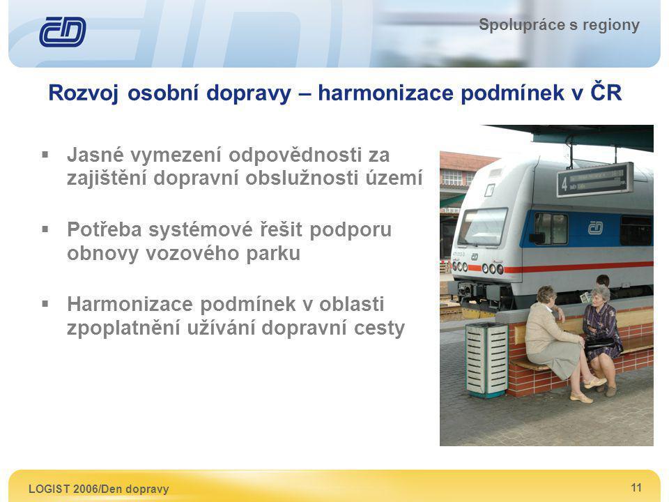 Rozvoj osobní dopravy – harmonizace podmínek v ČR