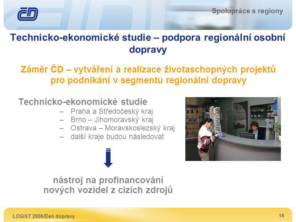 Technicko-ekonomické studie – podpora regionální osobní dopravy