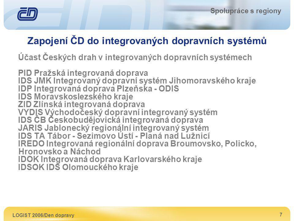 Zapojení ČD do integrovaných dopravních systémů
