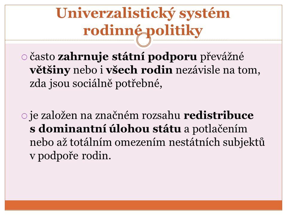 Univerzalistický systém rodinné politiky