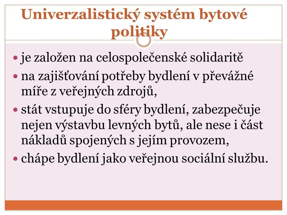 Univerzalistický systém bytové politiky