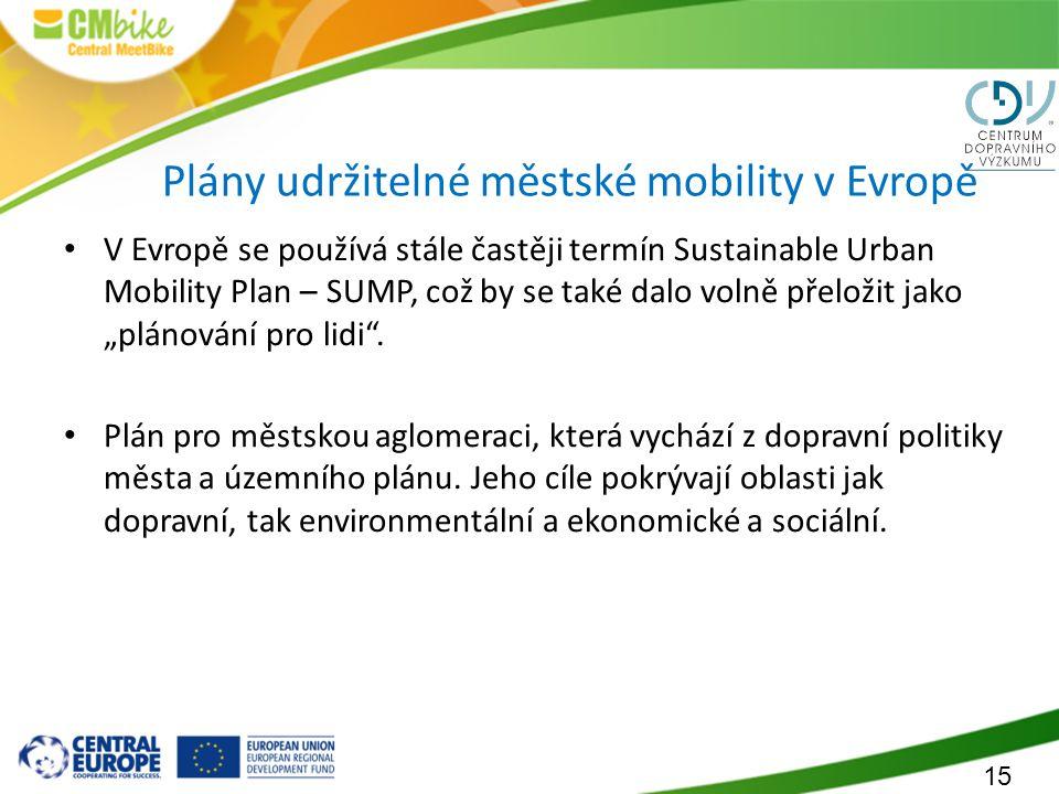 Plány udržitelné městské mobility v Evropě